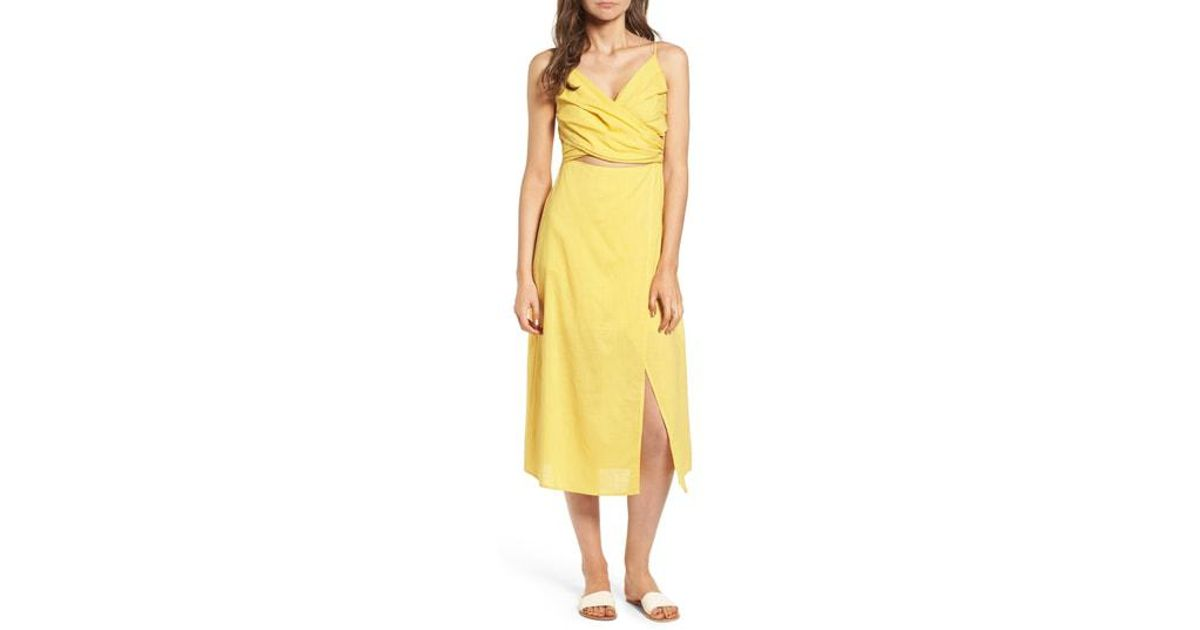 e8ea48ed06c Lyst - Nordstrom Cutout Midi Dress in Yellow