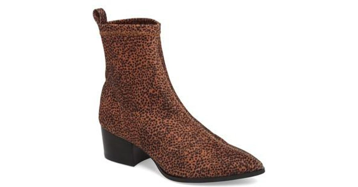 550005cfa736a8 Lyst - Matisse Amuse Society X Liliana Sock Bootie in Brown