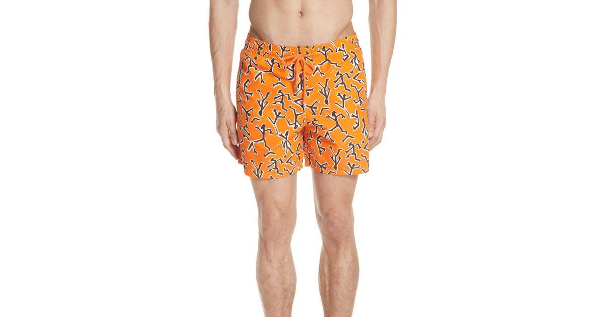 4a10cf0cca Lyst - Vilebrequin Fire Dance Swim Trunks in Orange for Men