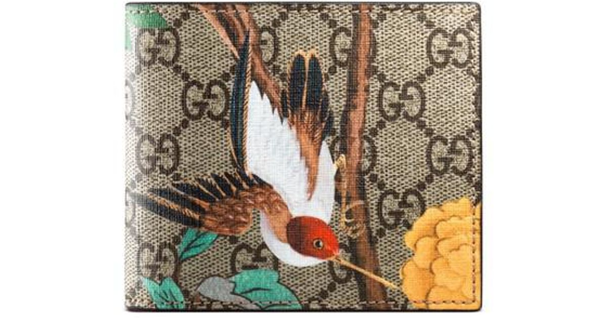 1e12f314200d5b Gucci Bird Wallet in Natural - Lyst