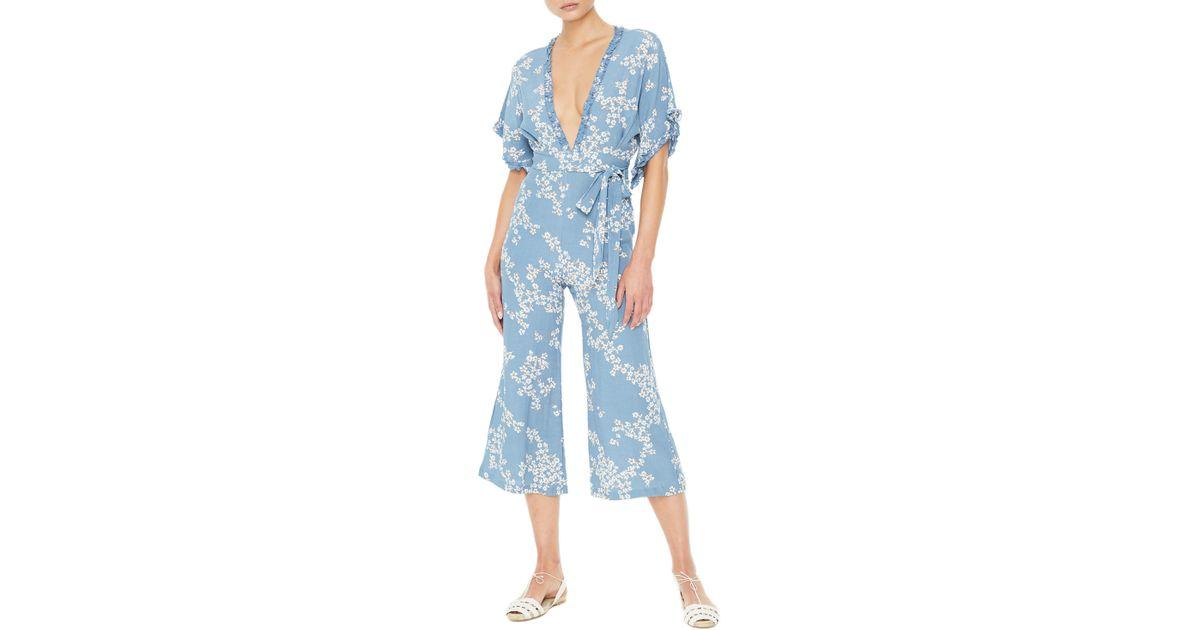 b86bc0668261 Lyst - Faithfull The Brand La Villa Jumpsuit in Blue
