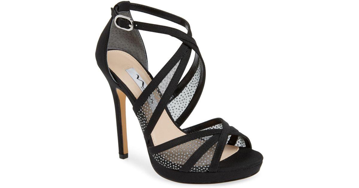 81929d27c6c Lyst - Nina Fenna Platform Evening Sandals in Black - Save 62%