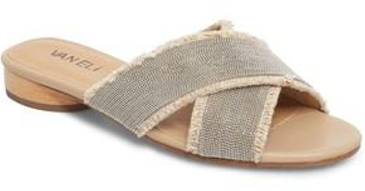 1ef2b1dbe2b Lyst - Vaneli Baret Slide Sandal in Natural