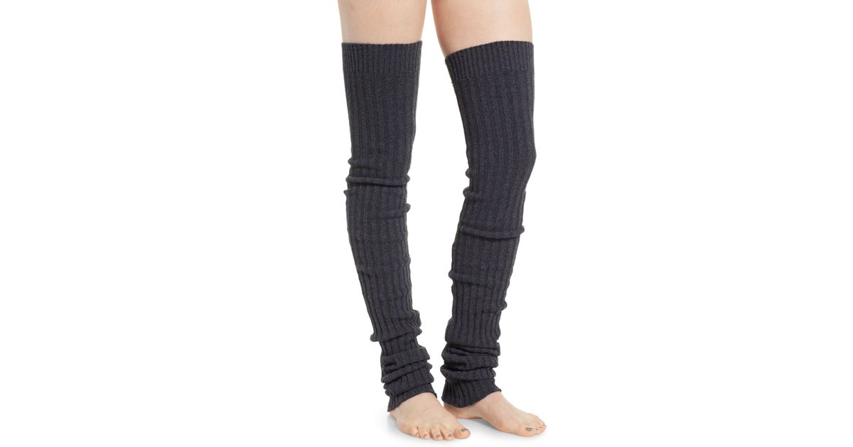 1d7860e7e Lyst - ToeSox Thigh High Leg Warmers in Blue