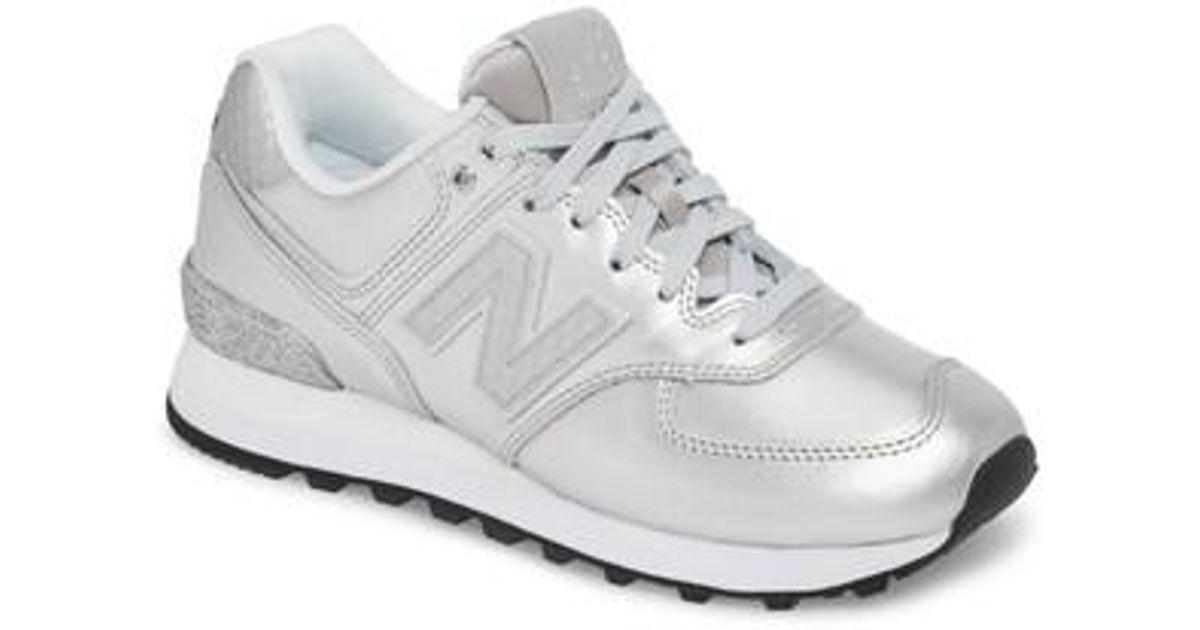 competitive price c2416 a1bb1 New Balance 574 Glitter Punk Sneaker in Metallic - Lyst