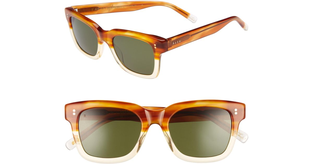 139615341f9 Lyst - Raen Gilman 52mm Polarized Sunglasses - Honey Havana  Green in Green  for Men