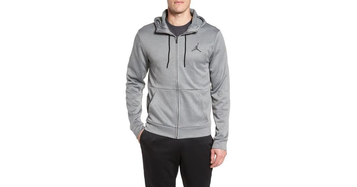 purchase cheap f5b47 9e2a8 Lyst - Nike 23 Alpha Therma Fz Hoodie in Gray for Men