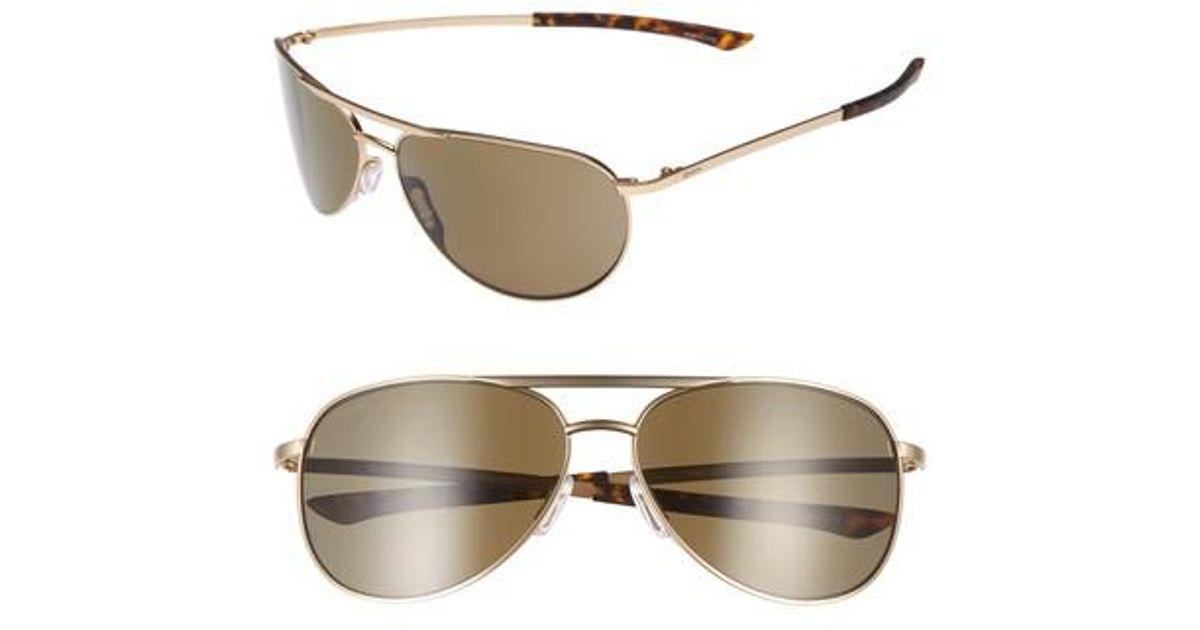 92a4803c0b5 Lyst - Smith Serpico Slim 2.0 60mm Chromapop Polarized Aviator Sunglasses  in Metallic