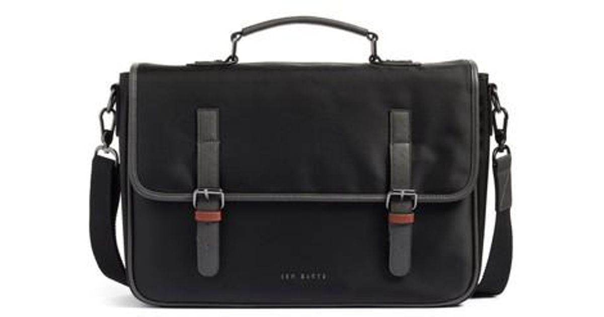 ba11baad5e00f0 Lyst - Ted Baker Cattar Messenger Bag - in Black for Men