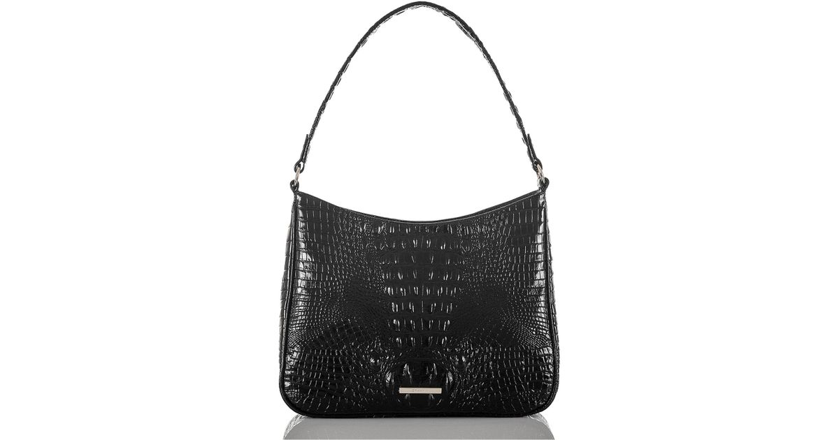 c5cbc338d Brahmin Noelle Atlas Melbourne Embossed Leather Shoulder Bag in Black - Lyst