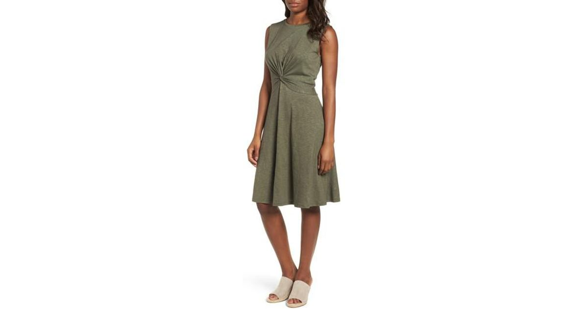 eae4dd0c7197 Lyst - Caslon (r) Twist Front Knit Dress (regular & Petite) in Green