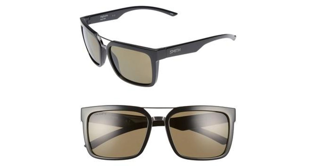 e39c46943cb Lyst - Smith Highwire 56mm Chromapop(tm) Square Sunglasses in Black