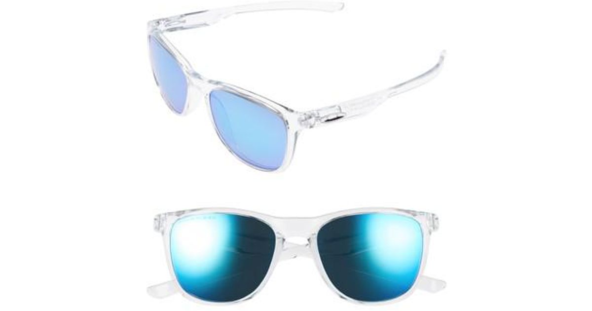 1a4ae1b7bf Oakley Trillbe X 52mm Polarized Sunglasses - Clear  Sapphire Iridium P in  Blue - Lyst