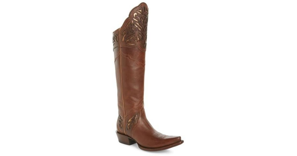 a2f8c467595 Lyst - Ariat Chaparral Over The Knee Western Boot in Brown