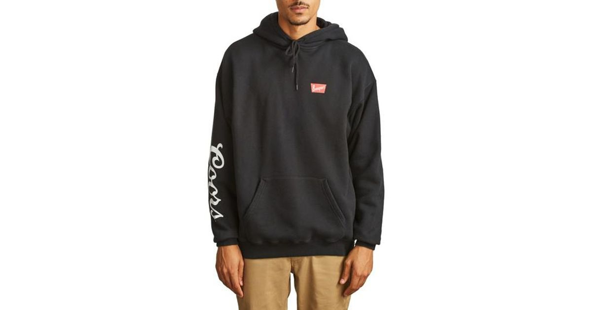Lyst - Brixton X Coors Banquet Hoodie in Black for Men 247e89b092a