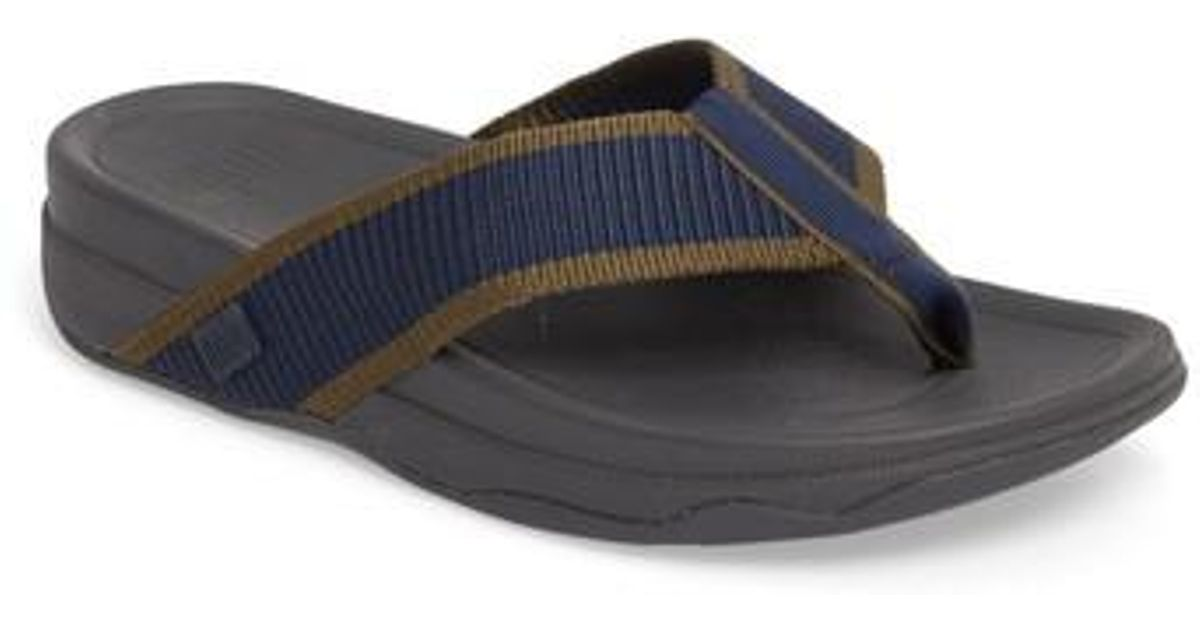 555111ce4 Lyst - Fitflop Surfer Flip Flop in Blue