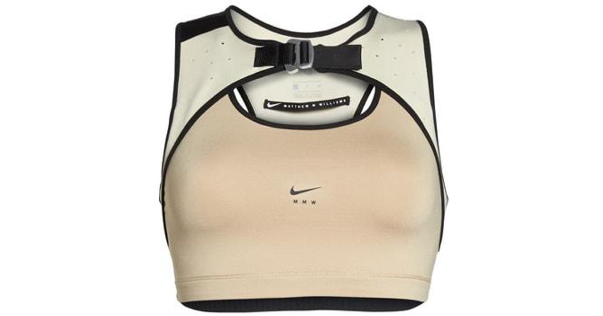 29946fab38574 Lyst - Nike Lab X Mmw Medium Support Dri-fit Sports Bra in Natural