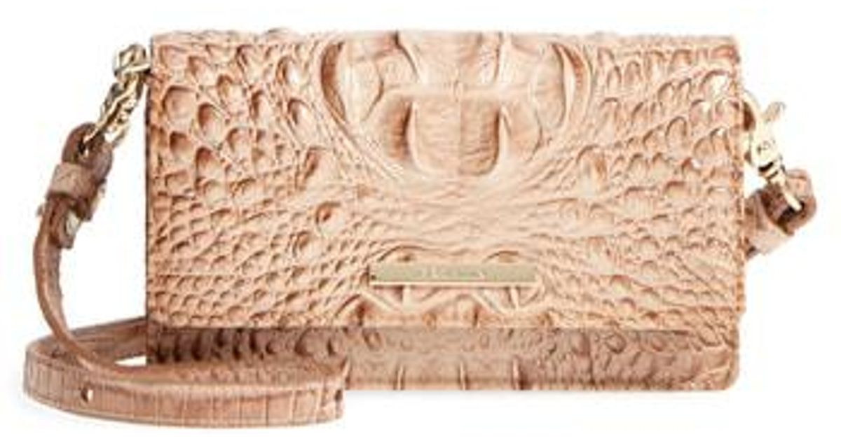 3351bac26 Brahmin Nadia Croc Embossed Leather Crossbody Bag - Lyst