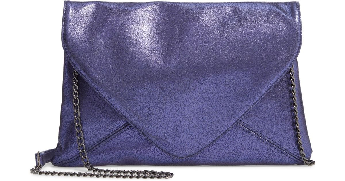 bc9c72bb1f Lyst - Trouvé Jade Envelope Clutch - Purple in Purple
