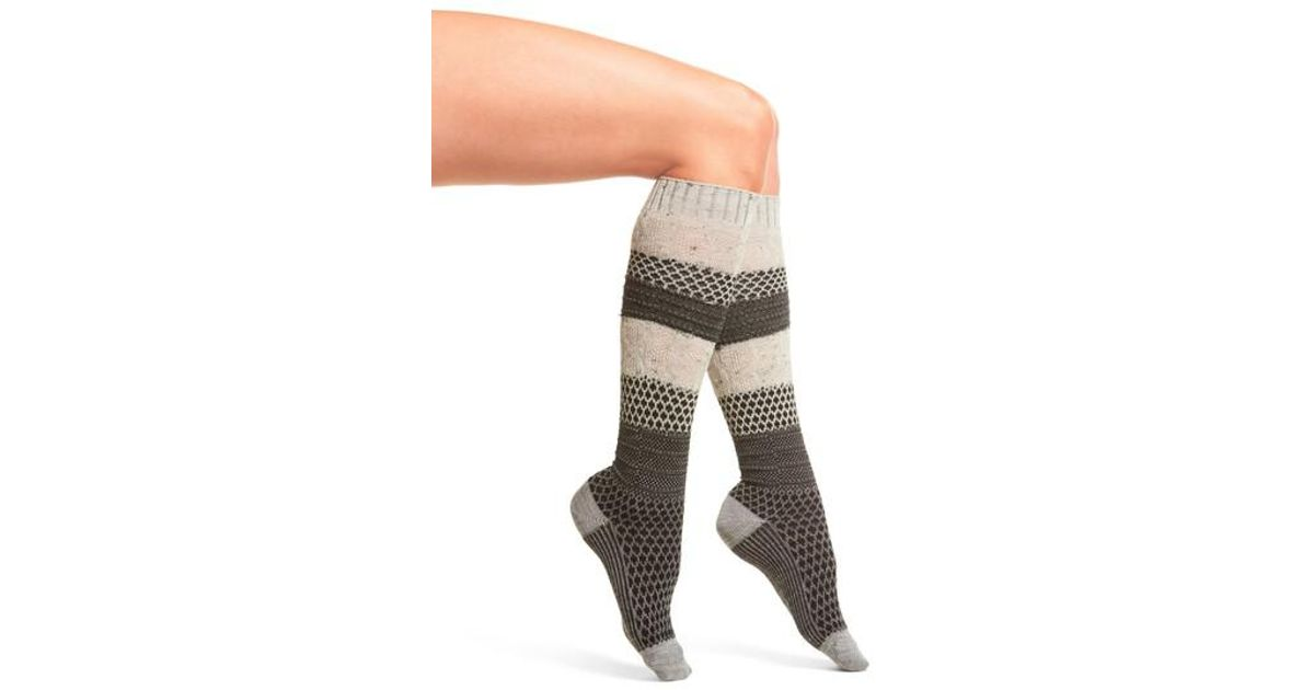 5b42b10d10305 Lyst - Smartwool Popcorn Cable Knee High Socks in Gray