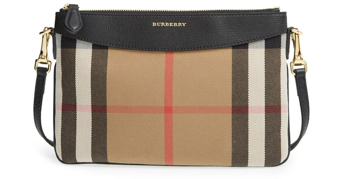 d73cec2ae2ee Lyst - Burberry  peyton - House Check  Crossbody Bag in Brown