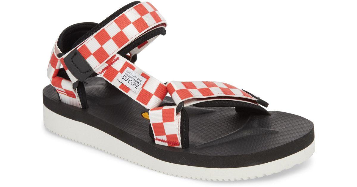 4c48e88fb695 Lyst - Suicoke Depa Sport Sandal in Red for Men