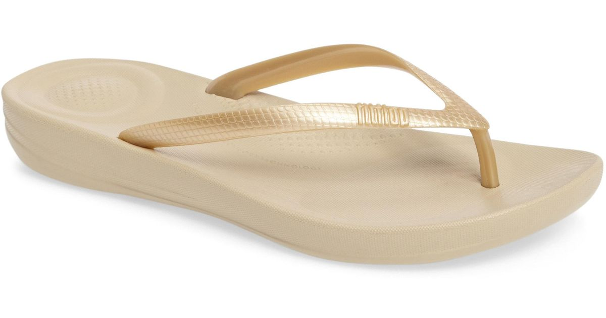 c1d54c20d46 Lyst - Fitflop (tm) Iqushion Flip Flop in Metallic - Save 4%