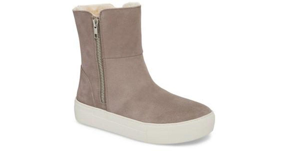 1cf9144822b Lyst - Steve Madden Garrson Faux Fur Sneaker Boot in Gray