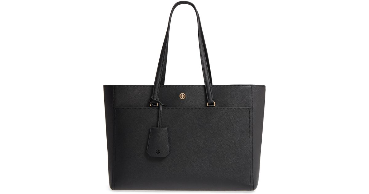 65629d5eead2 Lyst - Tory Burch Robinson Leather Tote - in Black
