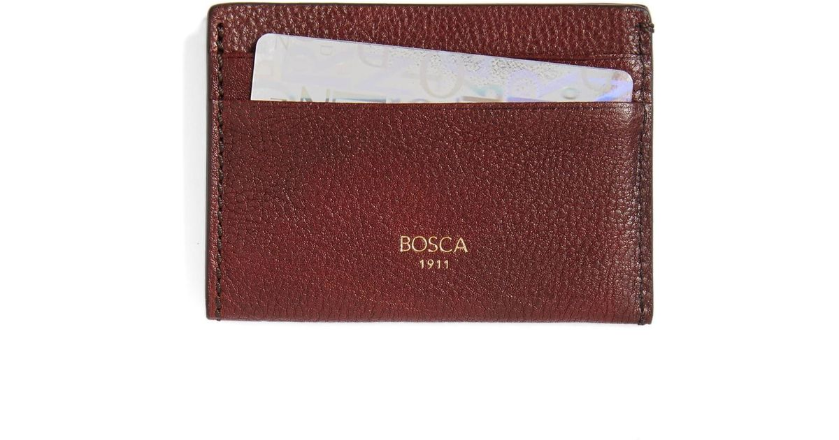 detailed look 313e6 e58ee Bosca Brown Leather Card Case for men