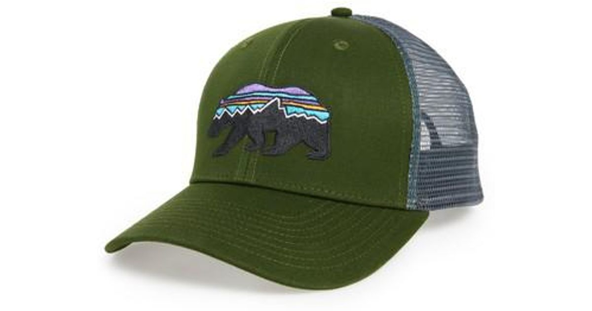 Lyst - Patagonia Fitz Roy Bear Trucker Cap in Green for Men 44583c7d5be