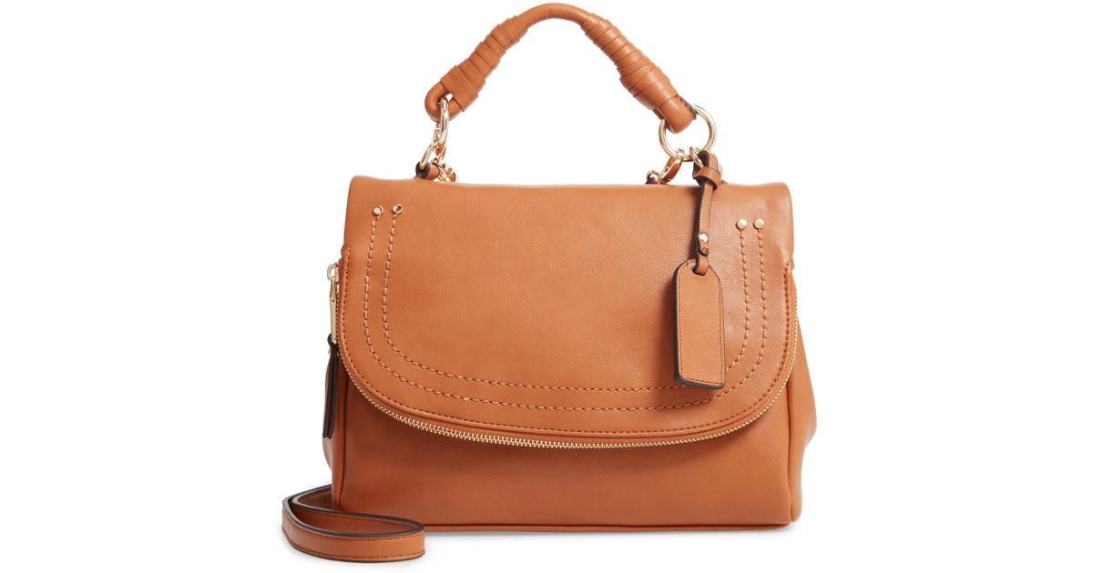 7455b13680 Lyst - Sole Society Rubie Faux Leather Crossbody Bag in Natural