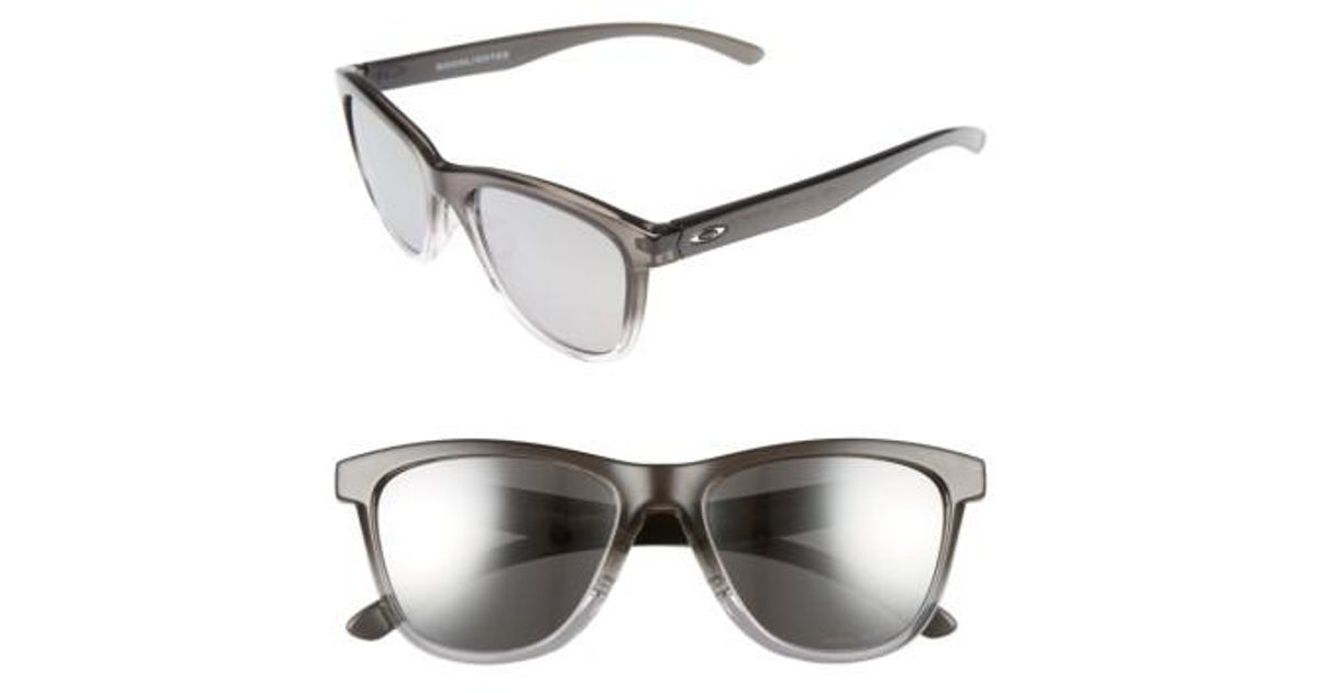 a139d5f29c Lyst - Oakley Moonlighter 53mm Polarized Sunglasses - Dark Ink  Chrome  Iridium P