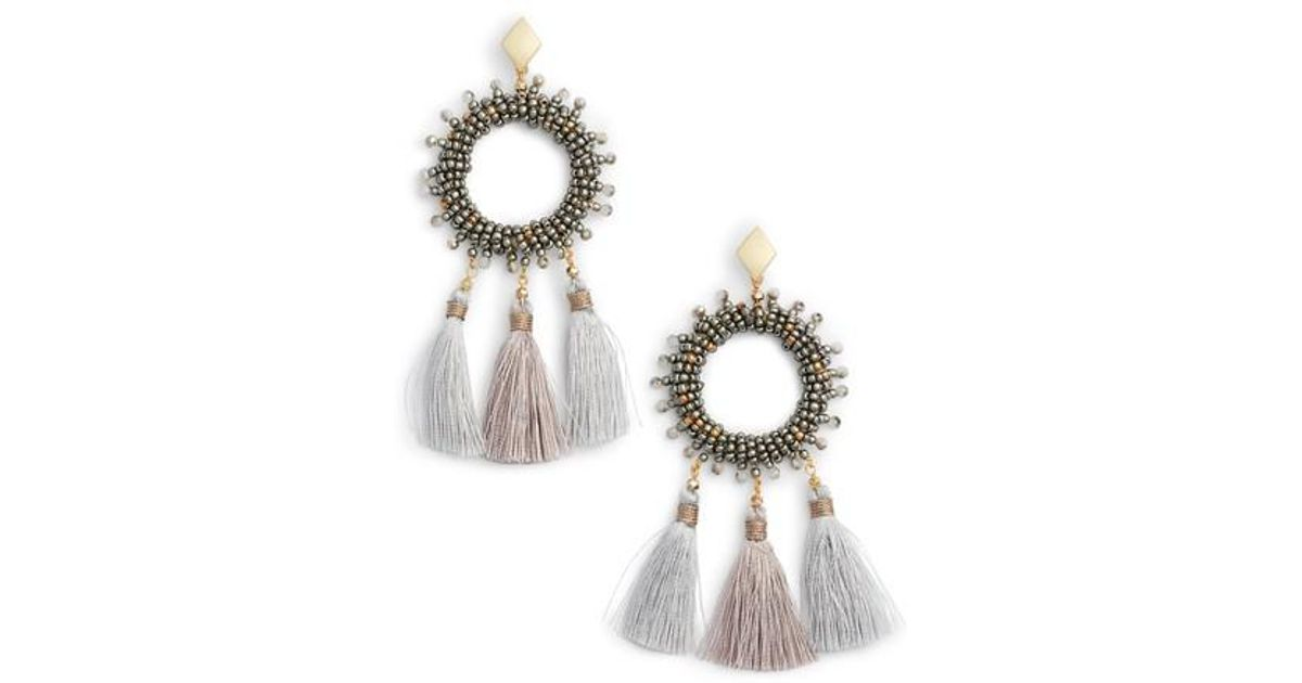 Nakamol Mini Tassel Open Teardrop Earrings agRRZAVhh