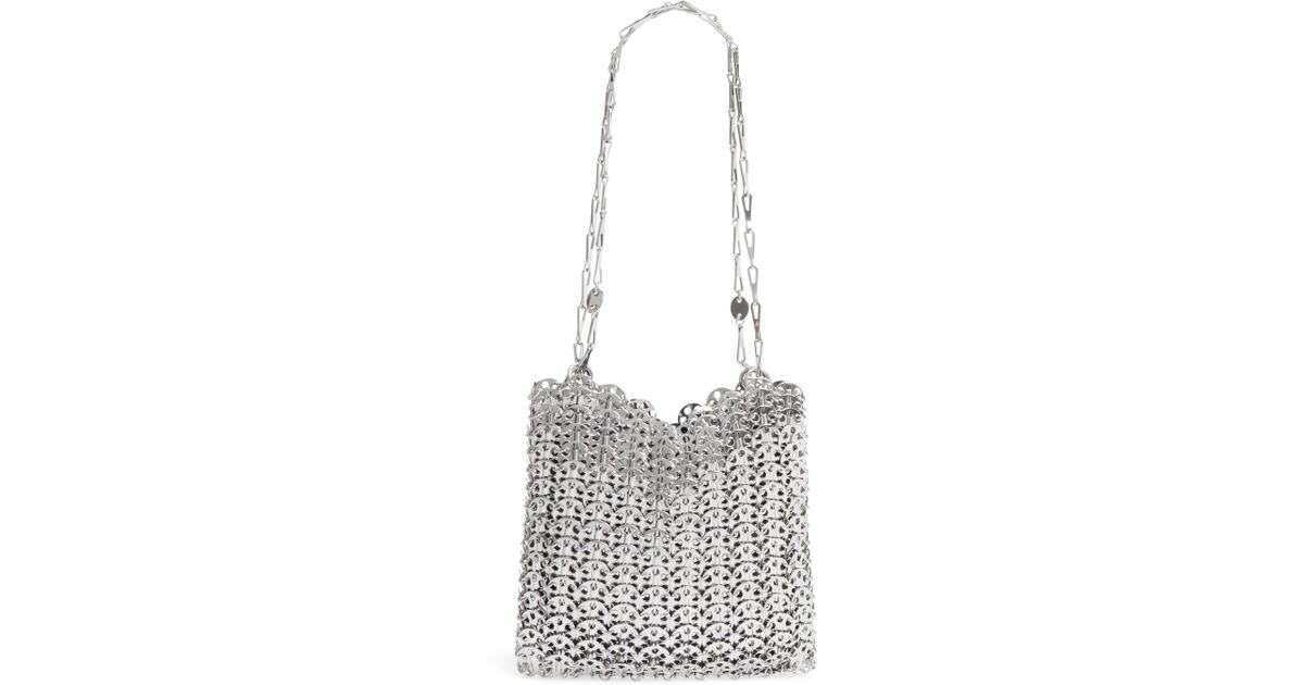 b1d636ef6795 Lyst - Paco Rabanne Leather Shoulder Bag - Metallic in Metallic