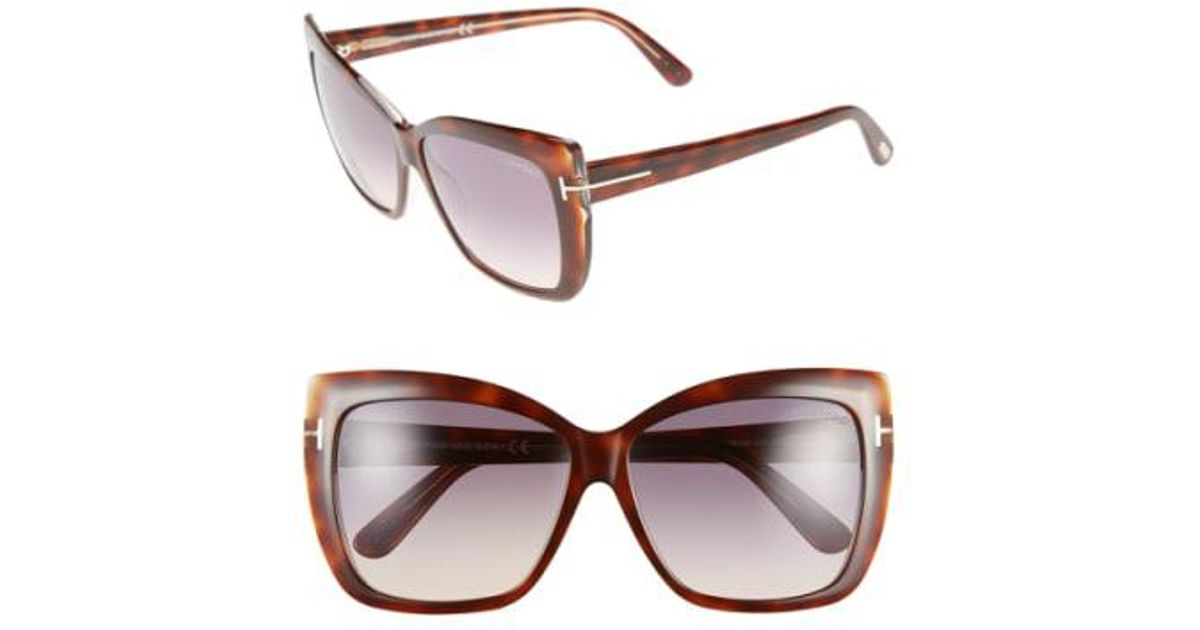 0ad41cb4dc Lyst - Tom Ford  irina  59mm Sunglasses - Blonde Havana   Gradient Brown in  Brown