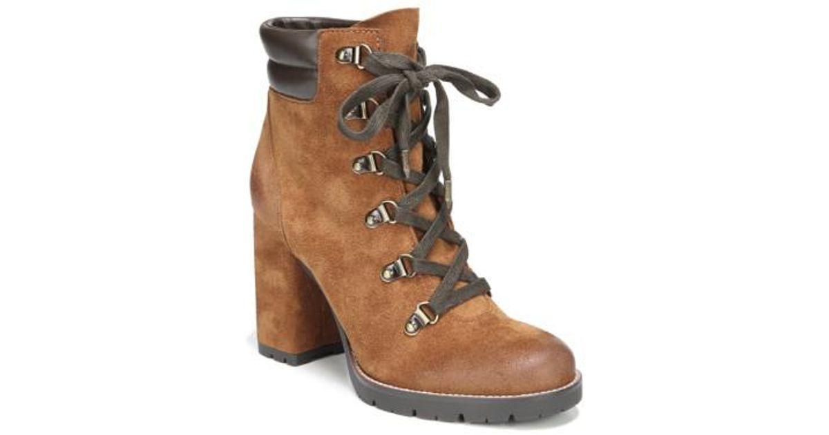 47b4b5099 Lyst - Sam Edelman Carolena Lace-up Boot in Brown