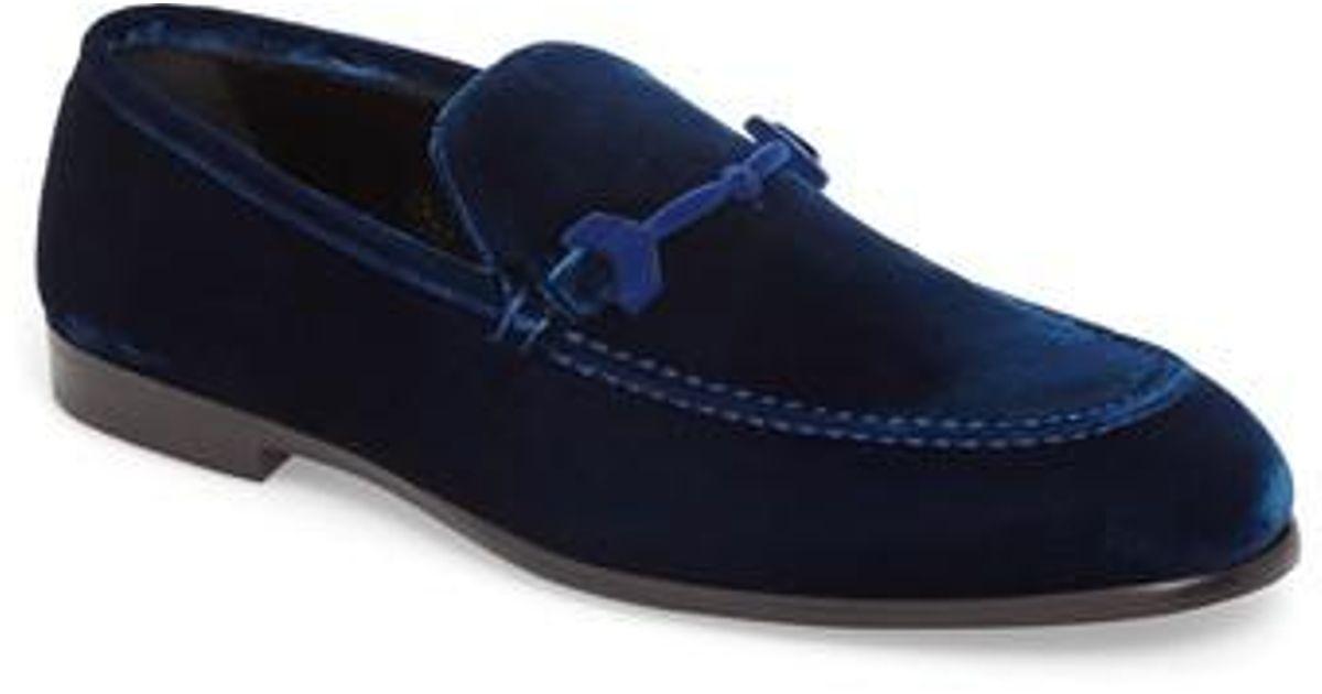 1c401af0b3d Lyst - Jimmy Choo Marti Velvet Bit Loafer in Blue for Men