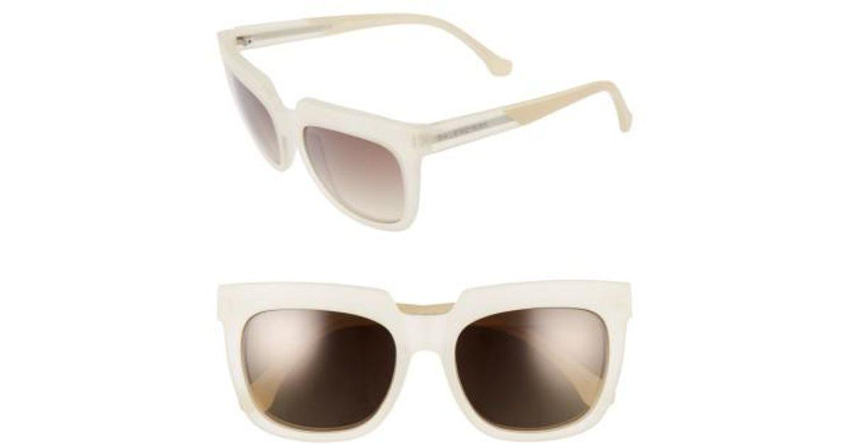 6a051a996d3 Lyst - Balenciaga 55mm Sunglasses - Transparent Champagne  Brown in Brown