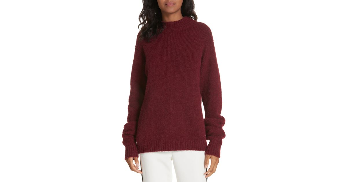 1f4612b6bb Lyst - Tibi Cozette Alpaca   Wool Blend Sweater in Red