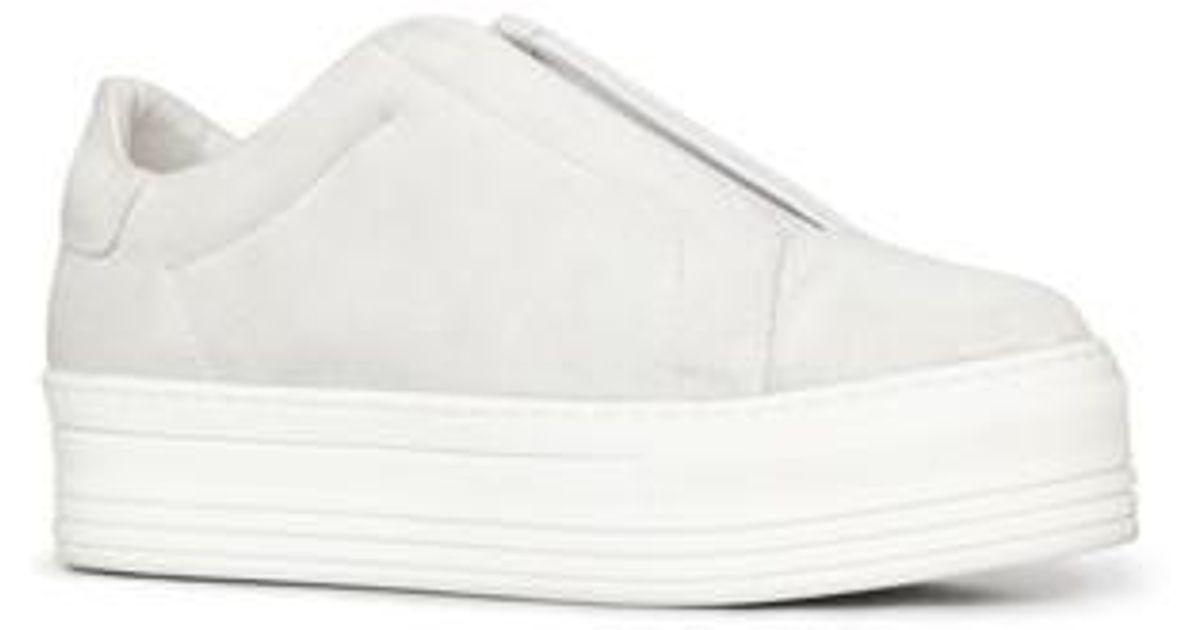 67c86f0cfdf Lyst - AllSaints Aya Platform Slip-on in White