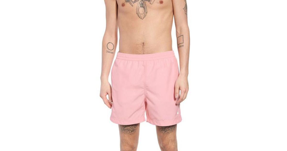 eb2e027617 Carhartt WIP Cay Swim Trunks in Pink for Men - Lyst