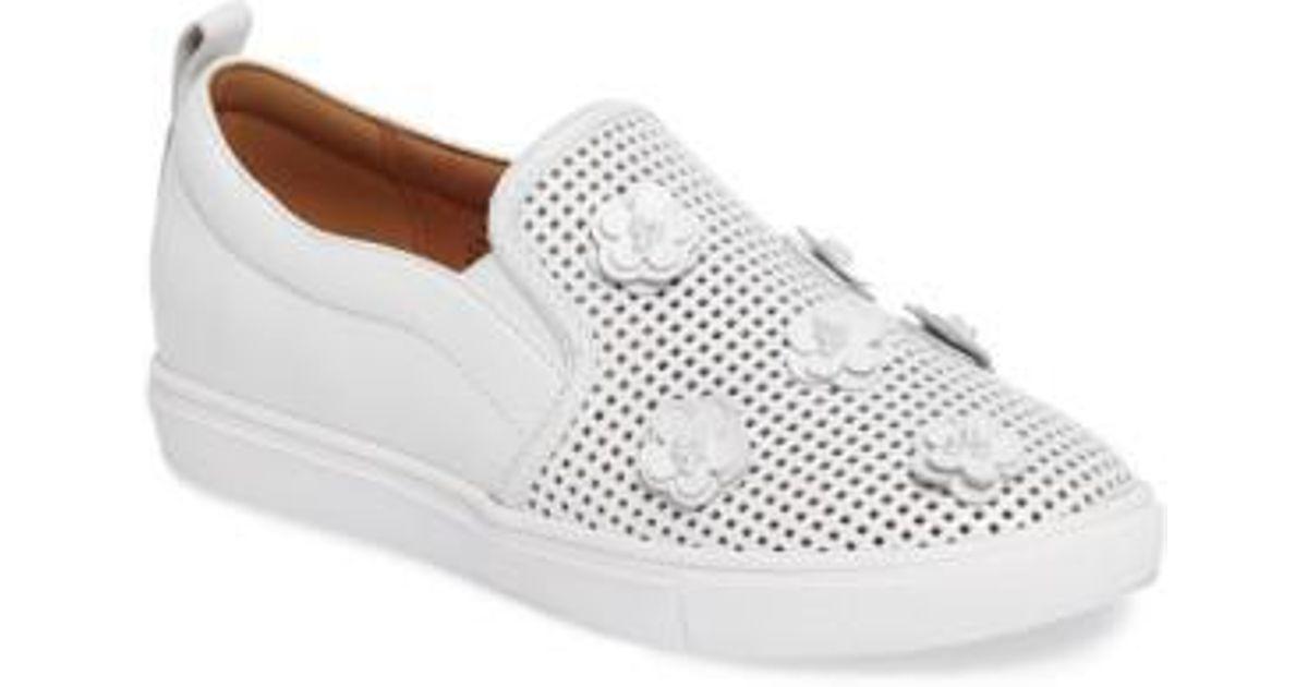 c0fdc2f9d72 Lyst - Caslon Caslon Eden Perforated Slip-on Sneaker in White
