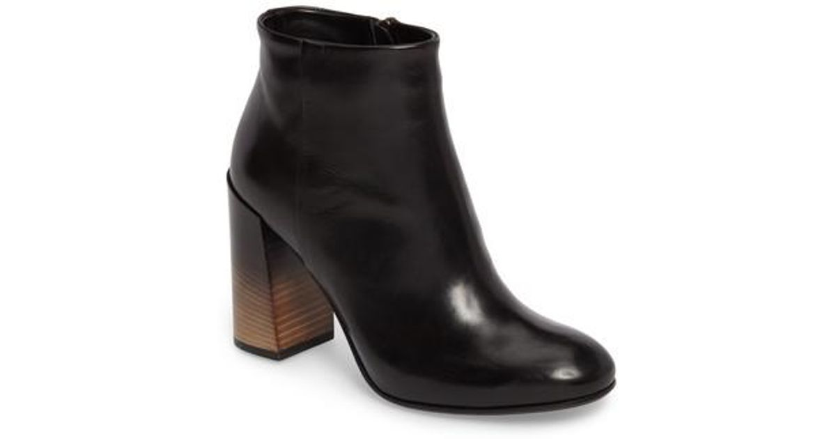 Alberto Fermani Women's Bellina Leather Low Heel Booties QTI7itnJN3