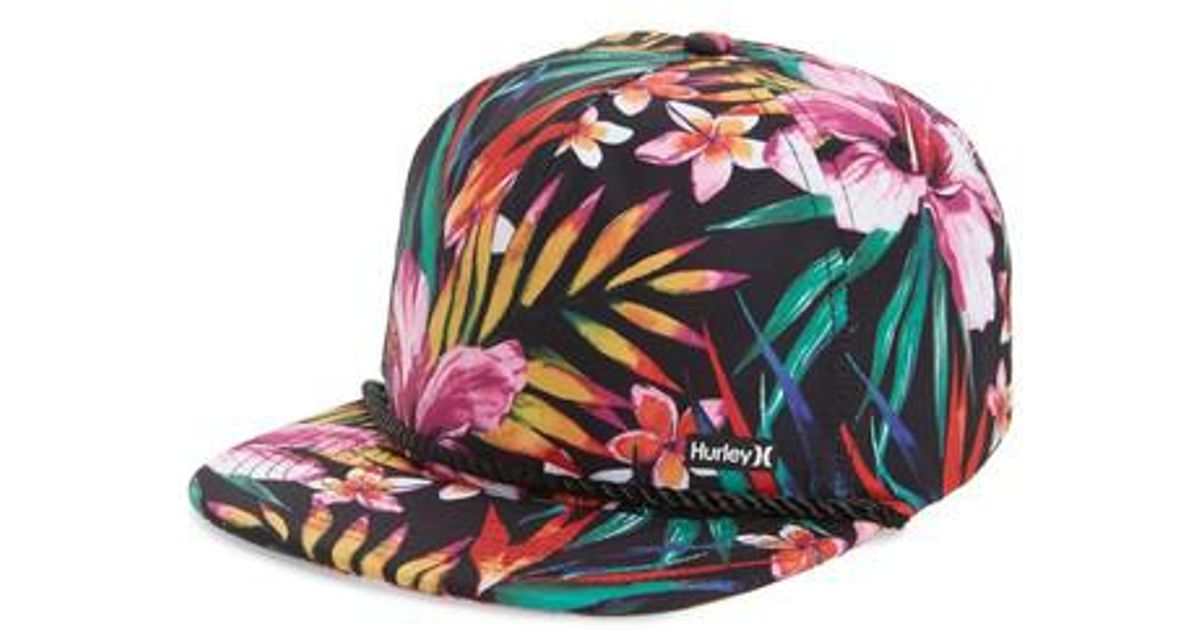 773c0e67c76ec ... where can i buy lyst hurley dri fit garden print hat in black for men  c5cd7