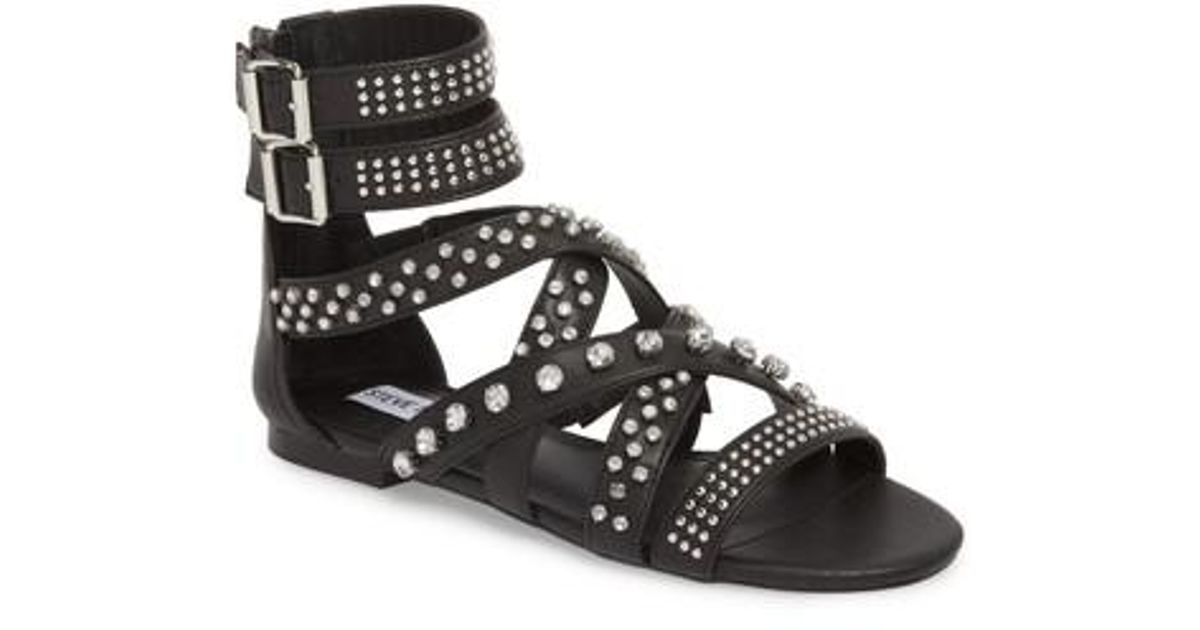 a366e7a5c779 Lyst - Steve Madden Shift Gladiator Sandal in Black - Save 54%