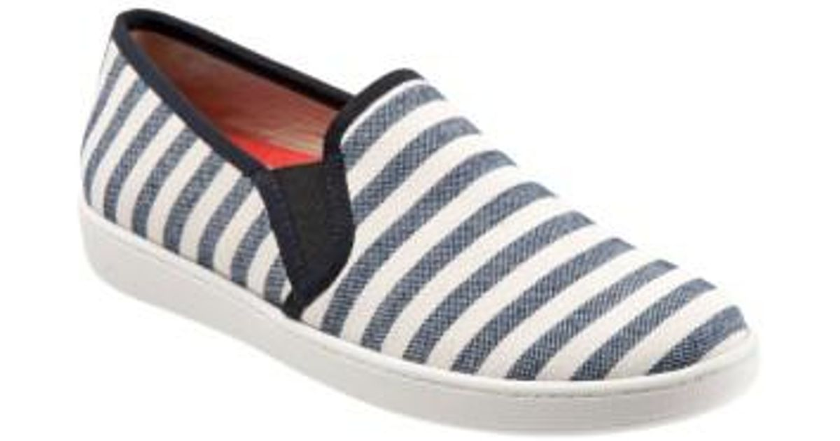 Trotters Americana Striped Canvas Slip-Ons