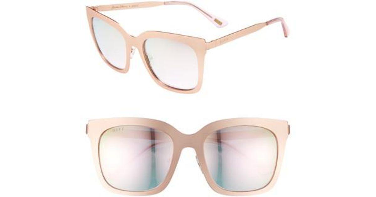 5a739c978631f Lyst - DIFF X Lauren Akins Ella 53mm Sunglasses in Pink