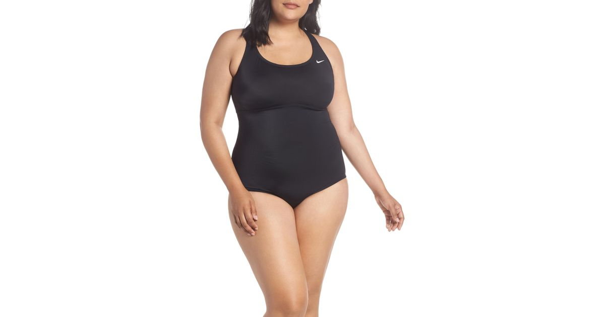 d5e47e0854a Lyst - Nike One-piece Racerback Swimsuit in Black