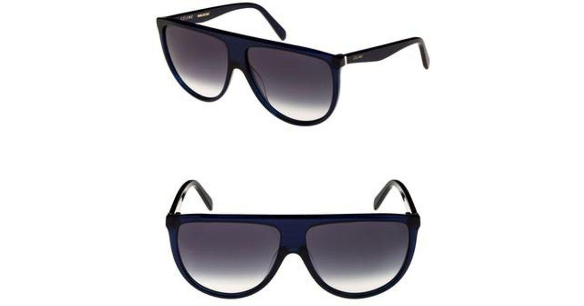 21604e52ec9a3 Céline 62mm Pilot Sunglasses in Blue - Lyst